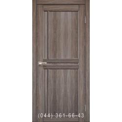 Двери КОРФАД SCALEA SC-01 дуб грей со стеклом (сатин матовый)