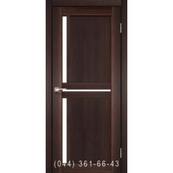 Двери КОРФАД SCALEA SC-02 орех со стеклом (сатин матовый)
