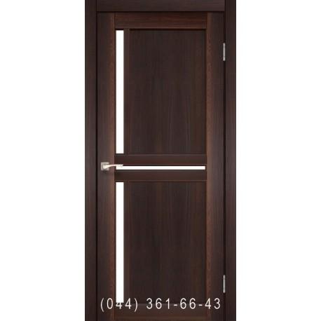 Двері КОРФАД SCALEA SC-02 горіх зі склом (сатин матовий)