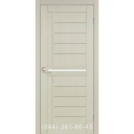 Двери КОРФАД SCALEA SC-03 дуб беленый со стеклом (сатин матовый)