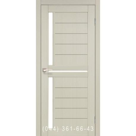 Двери КОРФАД SCALEA SC-04 дуб беленый со стеклом (сатин матовый)