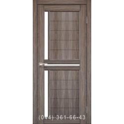 Двері КОРФАД SCALEA SC-04 дуб грей зі склом (сатин матовий)
