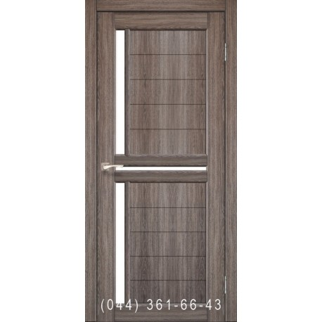 Двери КОРФАД SCALEA SC-04 дуб грей со стеклом (сатин матовый)