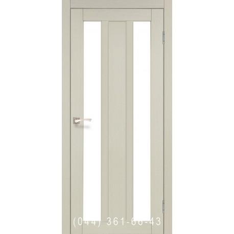 Двери КОРФАД NAPOLI NP-01 дуб беленый со стеклом (сатин матовый)