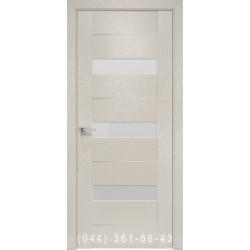 Двери Вена х-беж Новый Стиль со стеклом сатин матовый