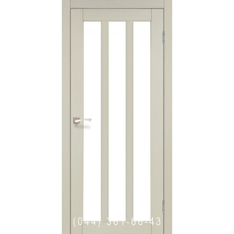 Двері КОРФАД NAPOLI NP-02 дуб білений зі склом (сатин матовий)