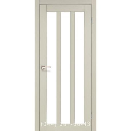 Двери КОРФАД NAPOLI NP-02 дуб беленый со стеклом (сатин матовый)