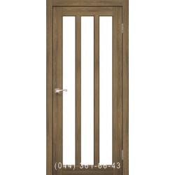 Двері КОРФАД NAPOLI NP-02 дуб браш зі склом (сатин матовий)