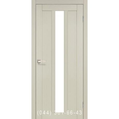 Двері КОРФАД NAPOLI NP-03 дуб білений зі склом (сатин матовий)