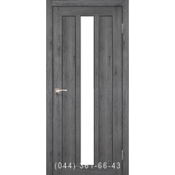 Двері КОРФАД NAPOLI NP-03 дуб марсала со стеклом (сатин матовий)