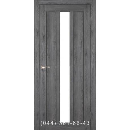 Двери КОРФАД NAPOLI NP-03 дуб марсала со стеклом (сатин матовый)