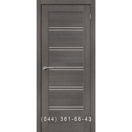 Интерьерные Двери Порта 28 грей Veralinga с матовым стеклом