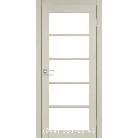 Двери КОРФАД VICENZA VC-02 дуб беленый со стеклом (сатин матовый)