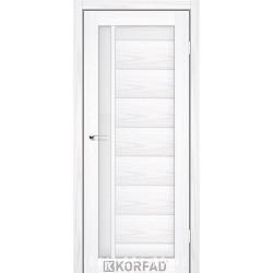 Двері FLORENCE FL-01 Корфад біла модрина зі склом (сатин матовий)