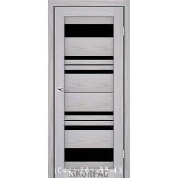 Двері FLORENCE FL-04 Корфад сіра модрина зі склом (чорне)