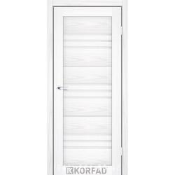 Двері FLORENCE FL-05 Корфад біла модрина зі склом (сатин матовий)