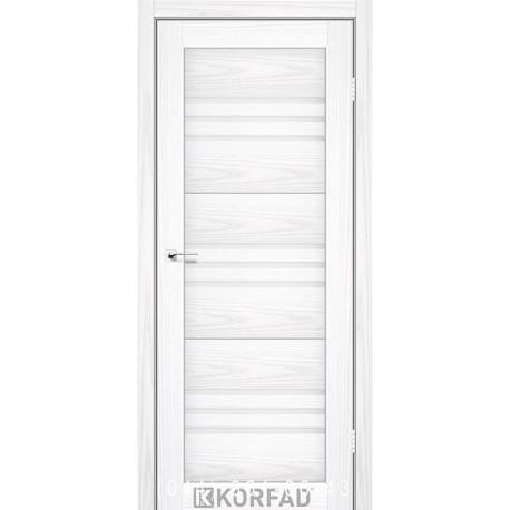 Двери FLORENCE FL-05 Корфад белая лиственница со стеклом (сатин матовый)