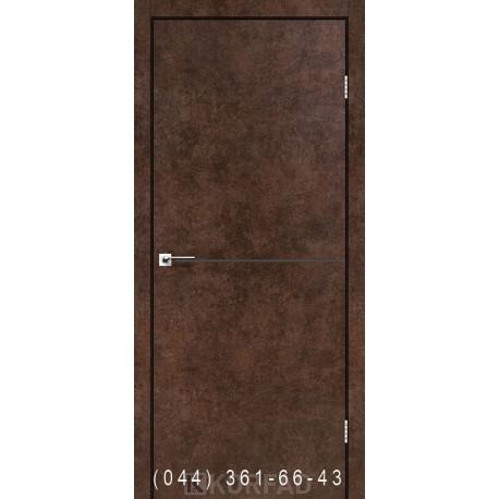 Двери DECO LOFT PLATO DLP-01 Корфад арт бетон глухое + декор (антрацит)