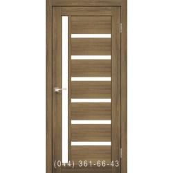 Двери КОРФАД VALENTINO VL-01 дуб браш со стеклом (сатин матовый)