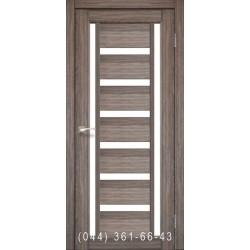 Двери КОРФАД VALENTINO VL-02 дуб грей со стеклом (сатин матовый)