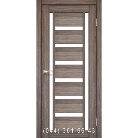 Двері КОРФАД VALENTINO VL-02 дуб грей зі склом (сатин матовий)