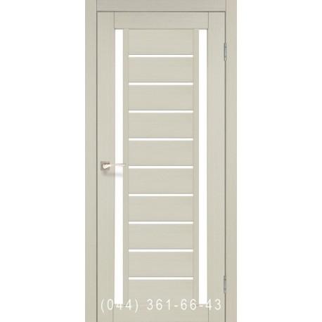 Двери КОРФАД VALENTINO VL-03 дуб беленый со стеклом (сатин матовый)