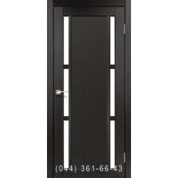 Двери КОРФАД VALENTINO VL-04 венге со стеклом (сатин матовый)