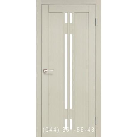 Двері КОРФАД VALENTINO VL-05 дуб білений зі склом (сатин матовий)