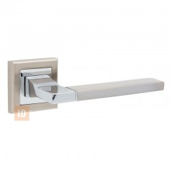 Ручка на розетке HISAR AS-06 SN/CP (никель матовый/хром)