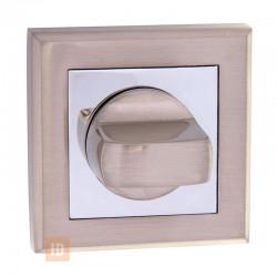 Накладка-поворотник HISAR NS WC (AF-2) SN/CP (никель матовый/хром)
