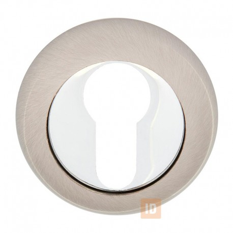 Накладка под цилиндр HISAR NR ET (804 ET) SN/CP (нікель матовий/хром)