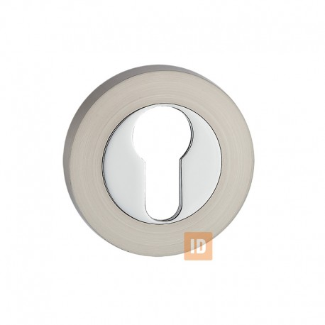 Накладка под цилиндр MVM E3 SN/CP (никель матовый/хром)