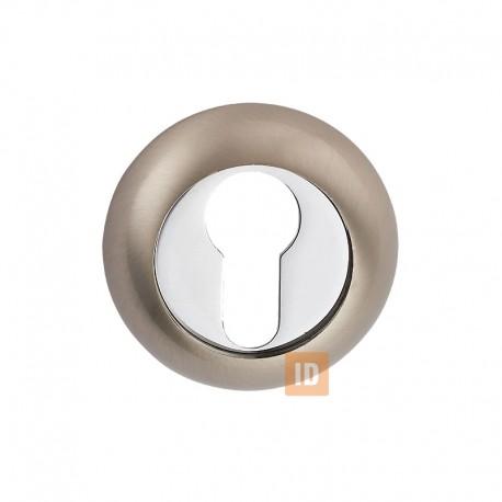 Накладка под цилиндр MVM E9 SN/CP (никель матовый/хром)