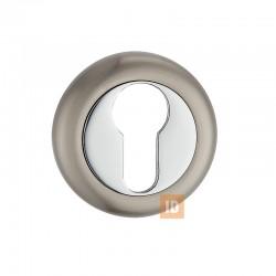 Накладка под цилиндр MVM E5 SN/CP (никель матовый/хром)
