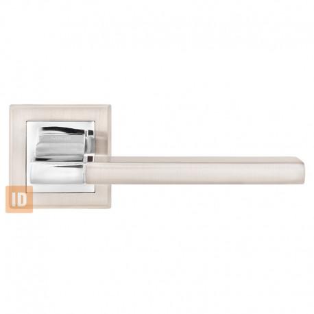 Дверные ручки MVM A-2008 Qoob SN/CP (никель матовый/хром)