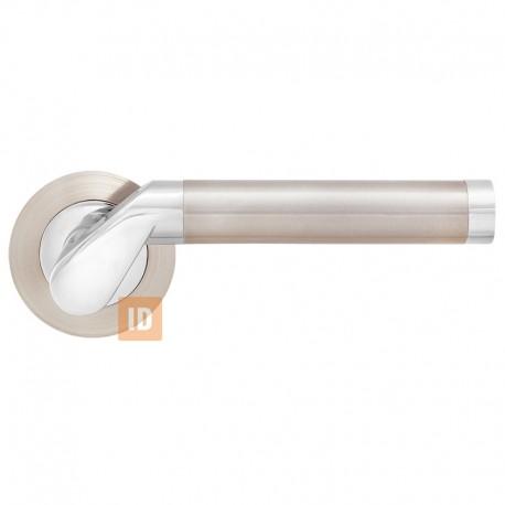 Дверные ручки MVM S-1103 Tubo SN/CP (никель матовый/хром)