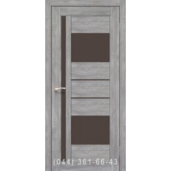 Двери КОРФАД VENECIA DELUXE VND-03 эш-вайт со стеклом (сатин матовый)