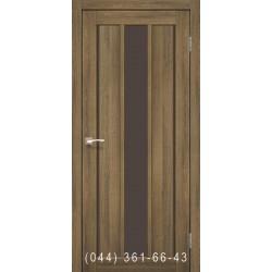 Двери КОРФАД VENECIA DELUXE VND-04 дуб браш со стеклом (сатин матовый)