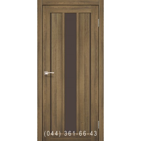 Двері КОРФАД VENECIA DELUXE VND-04 дуб браш зі склом (сатин матовий)