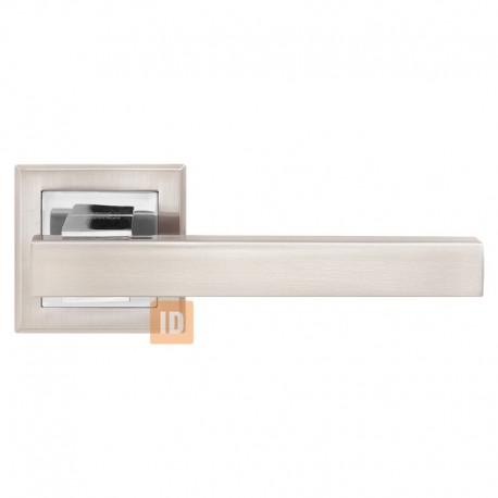 Дверные ручки MVM Z-1290 Loft SN/CP (никель матовый/хром)