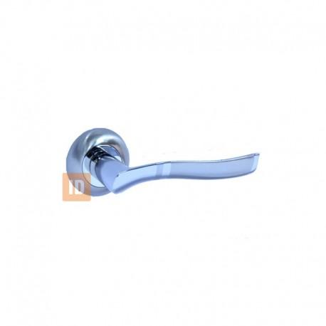 Дверные ручки MVM A-1222 SN/CP (никель матовый/хром)