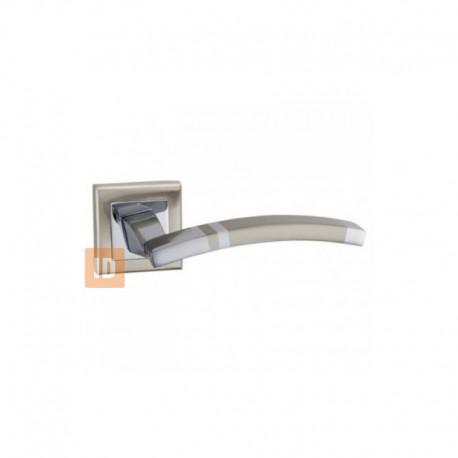 Дверные ручки MVM A-1344 SN/CP (никель матовый/хром)