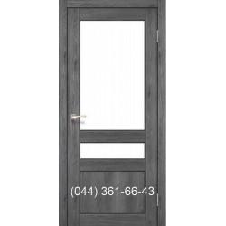 Двери КОРФАД CLASSICO CL-04 (без штапика) дуб марсала со стеклом (сатин матовый)