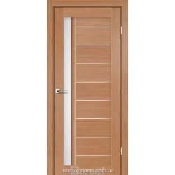 Двері Bordo Darumi дуб натуральний зі склом (сатин матовий)