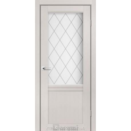 Двери Galant GL-01 Darumi дуб ольс со стеклом (матовое) + рис.