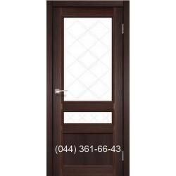 Двери КОРФАД CLASSICO CL-05 (со штапиком) дуб браш со стеклом (бронза) + рис. М1/М2