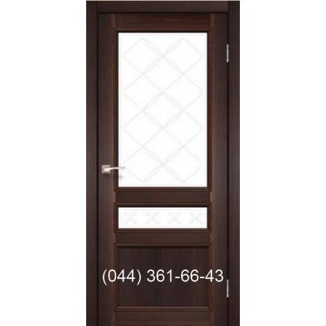 Двері КОРФАД CLASSICO CL-05 (зі штапіком) дуб браш зі склом (бронза) + рис. М1/М2