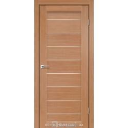 Двері Leona Darumi дуб натуральний зі склом (сатин матовий)