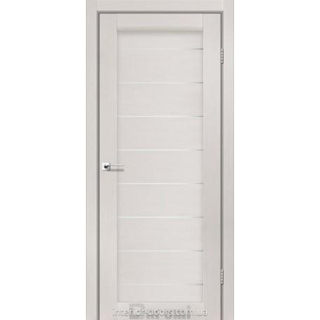Двери Leona Darumi дуб ольс со стеклом (сатин матовый)