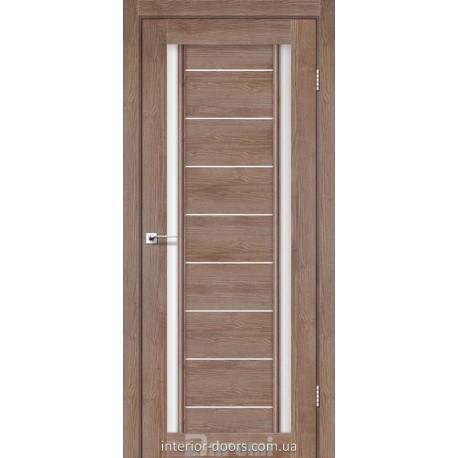 Двері Madrid Darumi горіх бургун зі склом (сатин матовий)
